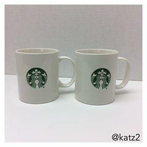 Starbucks Logo set of 2 Ceramic Cups, new